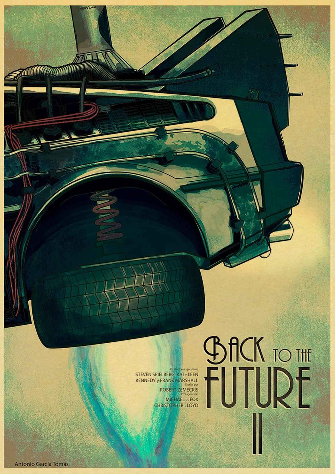 HTB1hdT9leuSBuNjSsziq6zq8pXal Sci-fi Back to The Future Film Propaganda Retro Kraft Poster Decorative DIY Wall Canvas Sticker Home Bar Art Posters Decor
