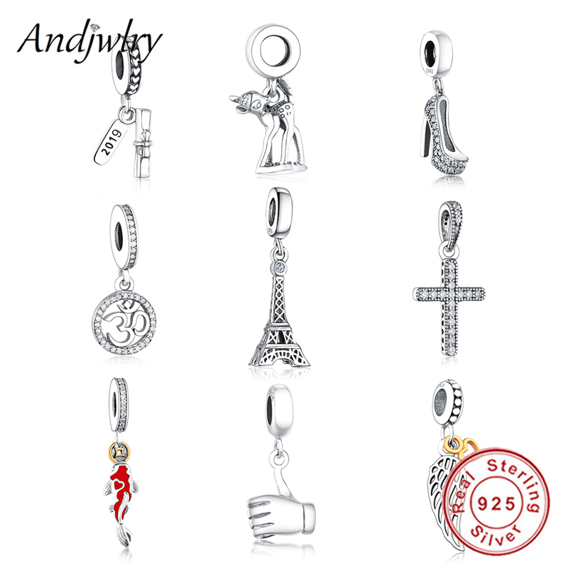 Fit Original Pandora Charms Bracelet Authentic 925 Silver Pendants France Eiffel Tower Beads for Making DIY Jewelry Berloque