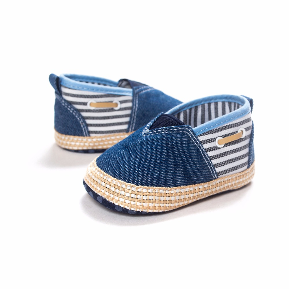 Handmade High Quality Canvas Patchwork Baby Boy Shoes Fashion Shallow Slip-On First Walkers Spring/Autumn Baby Casual Shoes