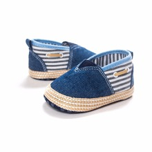 Handmade High Quality Canvas Patchwork Baby Boy Shoes Fashion Shallow Slip-On First Walkers Spring/Autumn Casual