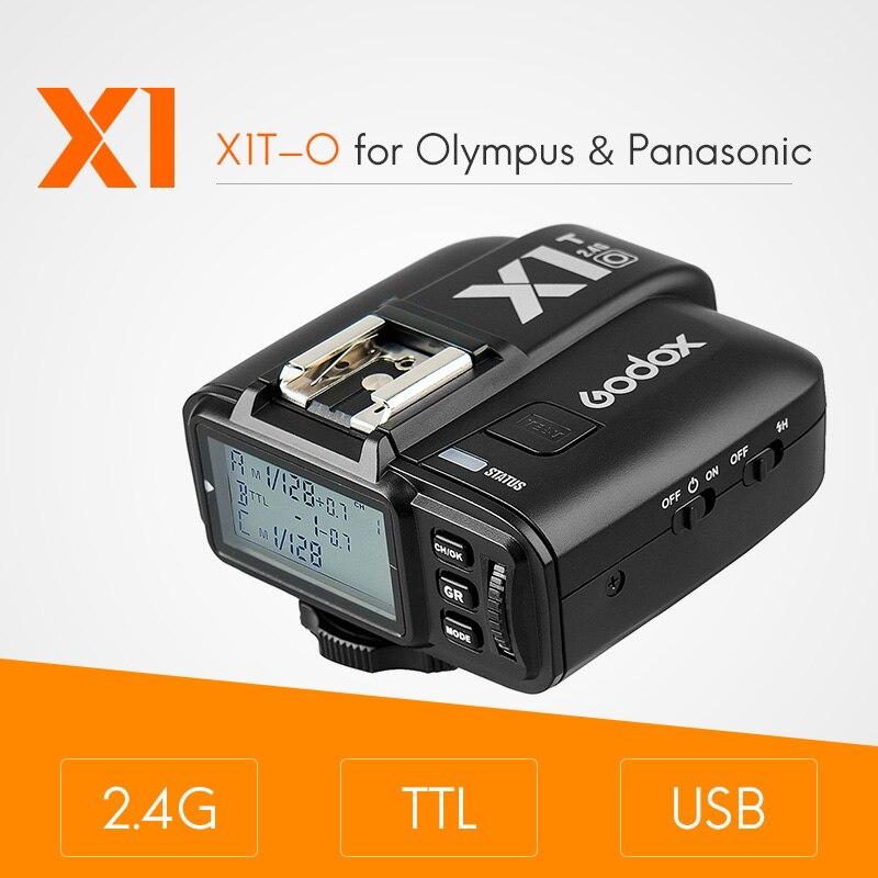 Godox X1T X1T-O 2.4G Sans Fil Flash Speedlite Transmetteur Déclencheur pour Olympus PEN-F E-P3 E-P5 Panasonic DMC-G85 DMC-GH4 Caméras