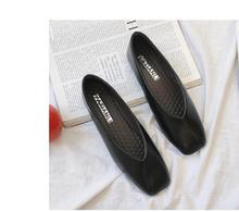 цены на 2019 new grandmother shoes female flat bottom wild retro square head Korean version of the women's shallow mouth single shoes  в интернет-магазинах