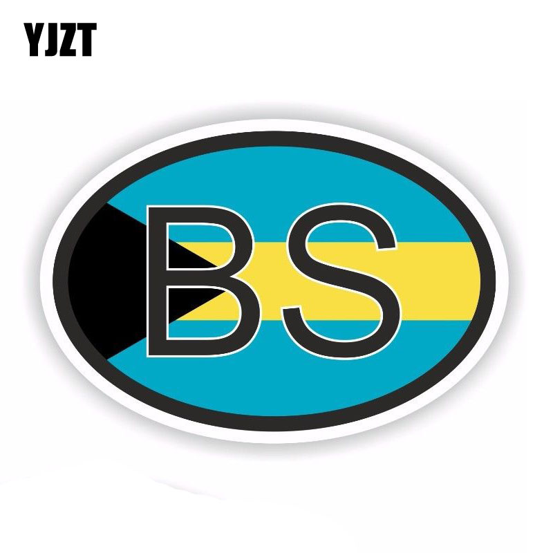 Bahamas Country Flag Reflective Decal Bumper Sticker