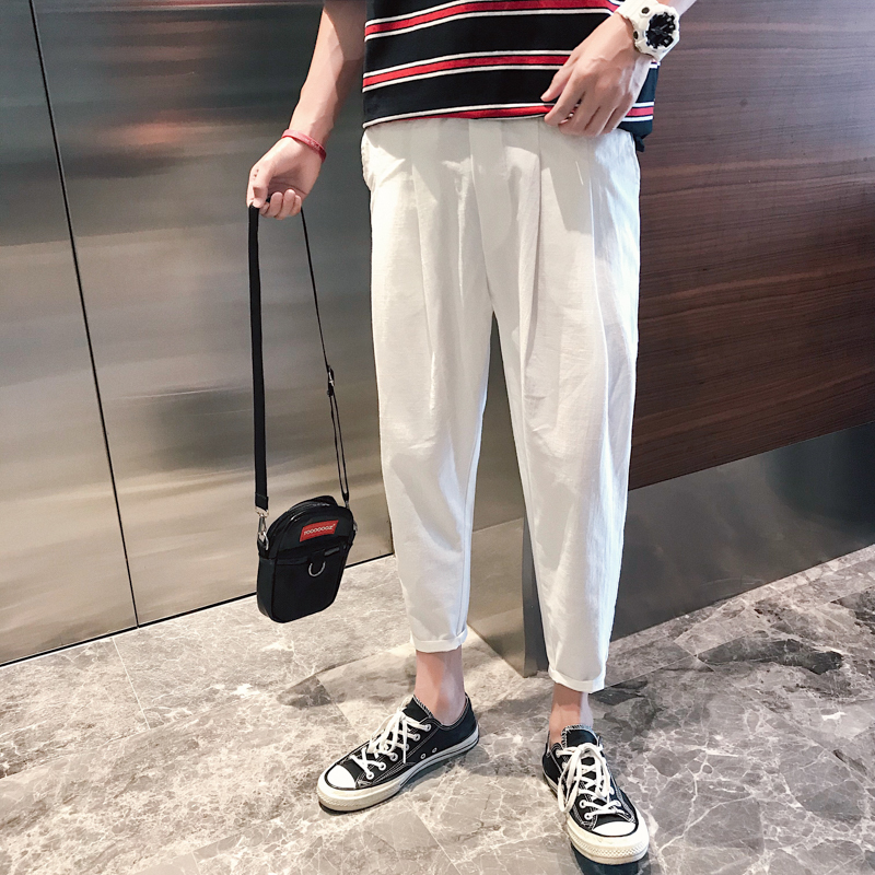 Summer Pants Korean Leisure Time black and white The new listing Favourite Fashion Free shipping casual