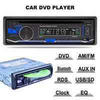 Car Radios 1 Din 12v Bluetooth Hands Free Mp4 Mp5 Player Autoradio Audio Stereo For Auto Compatible CD Dvd Vcd Wma Aux Usb Input