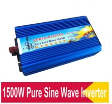FedEx UPS DHL Free Shipping ! Top Quality 1500W Pure Sine Wave Inverter DC 12V 24V 48V AC 110V 230V 50HZ/60HZ