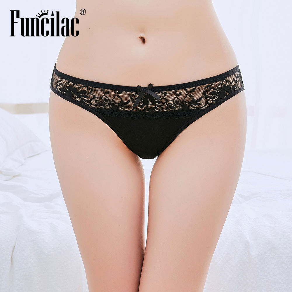 Funcilac Lace Underwear Sexy Tanga Thong Panties Culotte Femme G String Sexy For Women Ladies Underwear Panties G-string 1 Piece #1