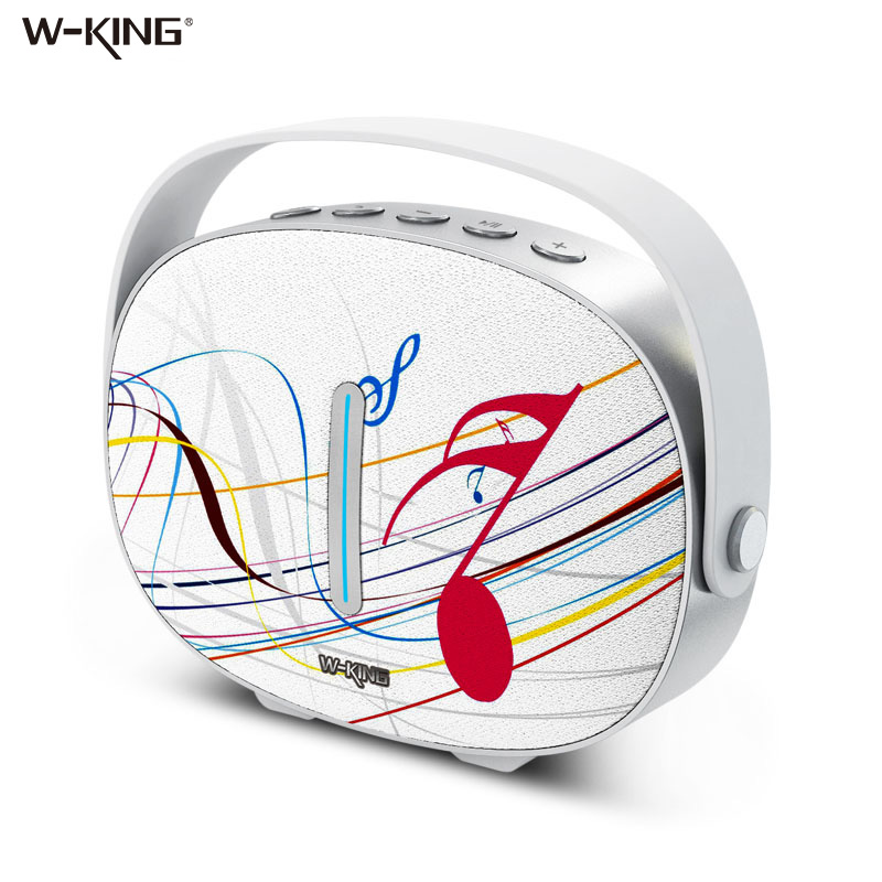 W-king Speakers Mini portable Bluetooth Speaker Wireless with FM Radio for iphone 5 Sumsung phone Bluetooth Speakers hand free 100% original sardine sdy 019 altavoz bluetooth speaker wireless hifi portable subwoofer speakers music sound box with fm radio