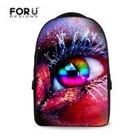 האופנה 3D עין לינג bagpack בנות צבע סוכריות מכללת תרמילי בית ספר מחשב נייד נסיעות המוצ 'ילה בד מזדמן mujer חבילה גדולה