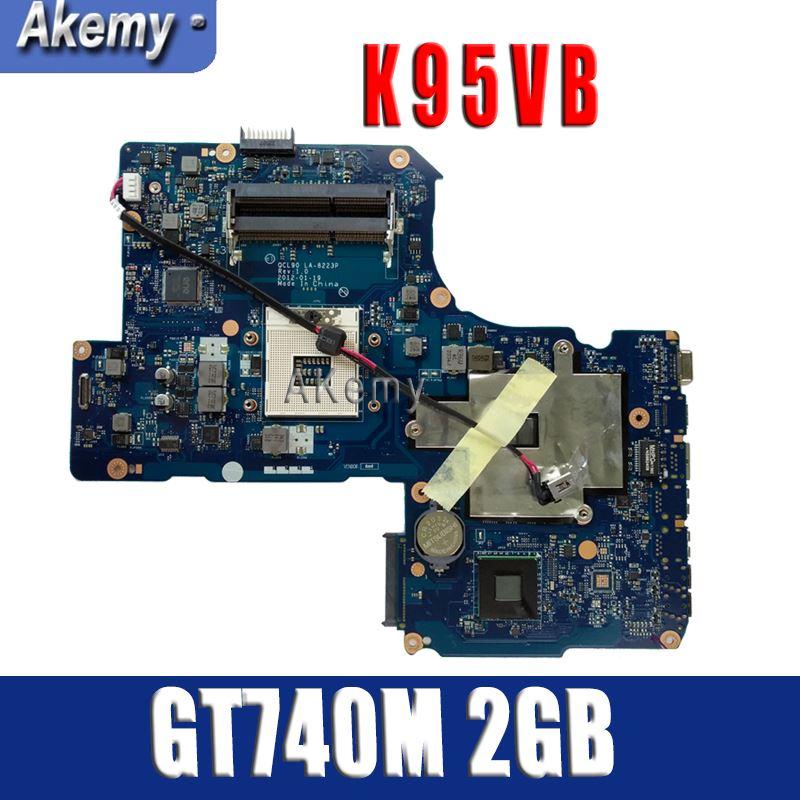 Amazoon K95VB GT740M 2GB N14P GV2 B A1 2 RAM Slot mainboard For ASUS K95VJ K95VM