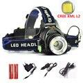 LED headlight 5000LM CREE XM-L L2 Headlamp zoom head lamp torch light flashlight adjustable Optional accessories 18650 battery