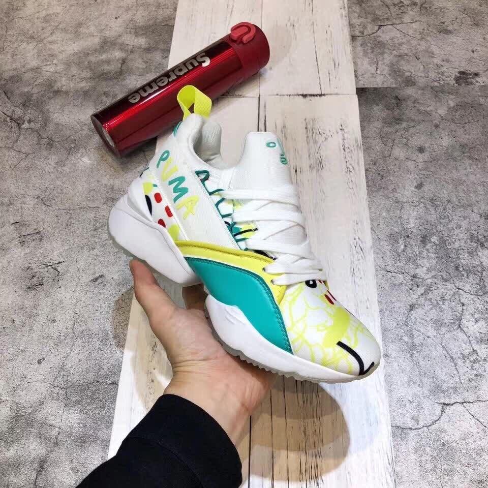PUMA CHAUDE Femmes de Muse Echo Satin EP Espadrilles chaussures De Badminton Taille 36-40