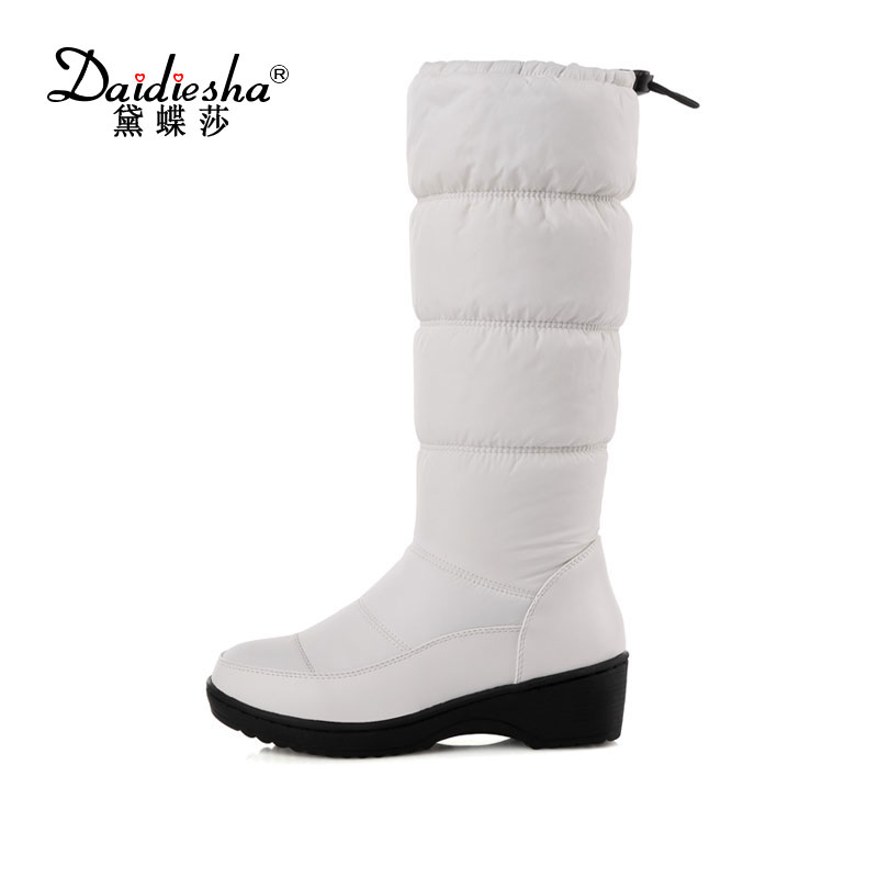 Daidiesha Russia winter boots women warm knee high boots round toe fur ladies fashion thigh snow boots shoes waterproof boot nemaone 2017 new fashion russia keep warm snow boots round toe platform knee high boots winter shoes women boots