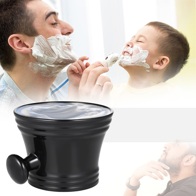 Dropship Plastic Shaving Bowl with Handle Male Shaving Brush Soap Mug Bowl Face Barber Cleaning Tools Holder Soup Cup