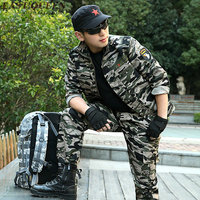 Camouflage suits military uniform camouflage army green tactical outdoors training camping sports sets 6xl AA2396 YQ