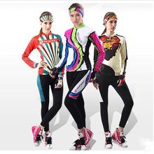 2016 NUCKILY Cycling Jersey Long Sleeve Set Spring/Autumn Women Bike Cycling Clothing Ciclismo Free To Send Same Headscarf