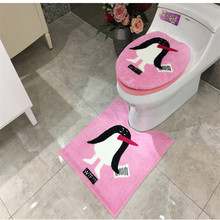 hot deal buy 3 pcs/set cartoon super soft plush thickening toilet potty sets toilet seat cover totoro cartoon warm close stool cushion mat