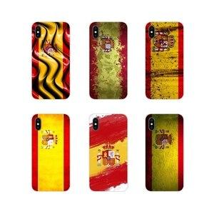 Hiszpania flaga hiszpańskiej krajowej dla Apple iPhone X X XS MAX 4 4S 5 5S 5C SE 6 6 S 7 8 Plus ipoda touch 5 6 silikonowy futerał na telefon pokrowce na