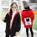 Девушки Свободные Пальто Новый Шаблон Зимняя Одежда Корейский Досуг Обе стороны Хлопок Клип Утолщение Долго Фонд Шляпа Пальто