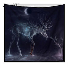 JaneYU New Deer Nordic Velvet Multi-function Tapestry Hanging Beach Towel Tapestries For Furniture