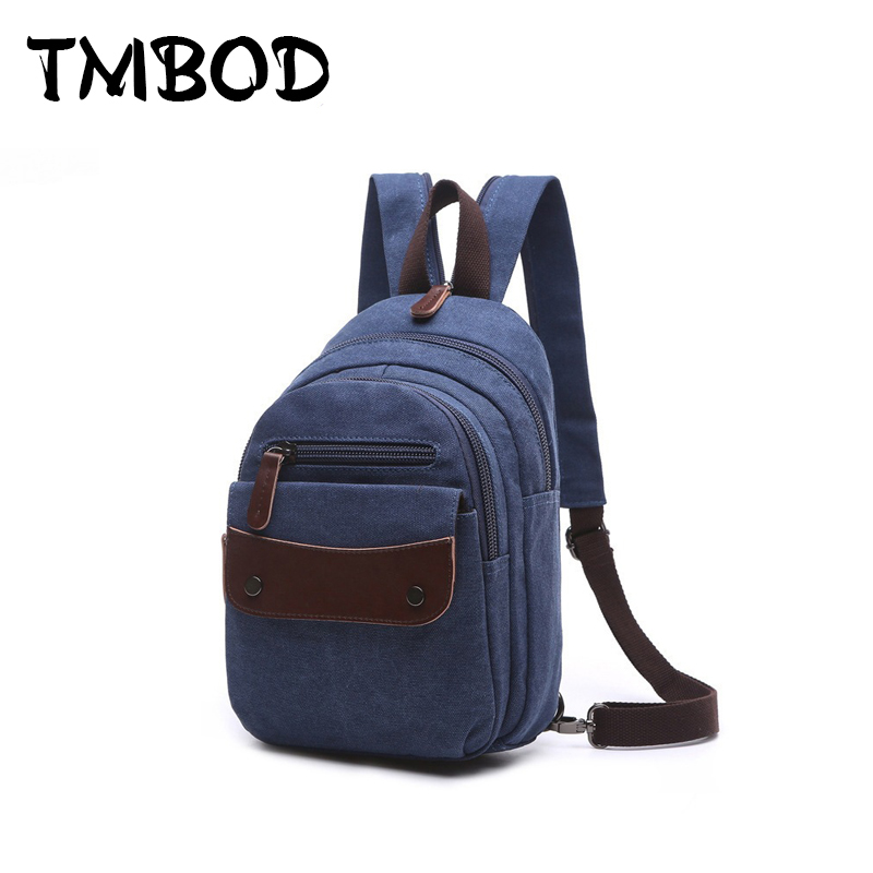New 2019 Fashion Men Small Backpack Canvas Water Proof School Bags For Male Man Backpacks Military Shoulder Bag Bolsas an1155