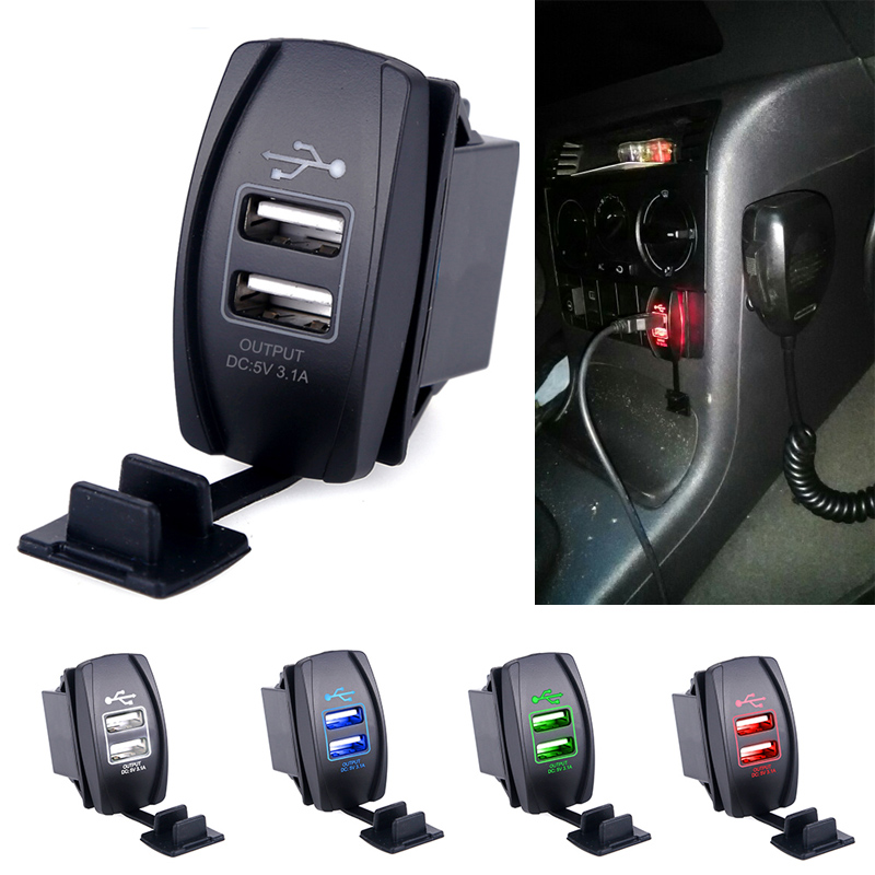 dual usb car charger socket outlet adpater port 12v 3 1. Black Bedroom Furniture Sets. Home Design Ideas