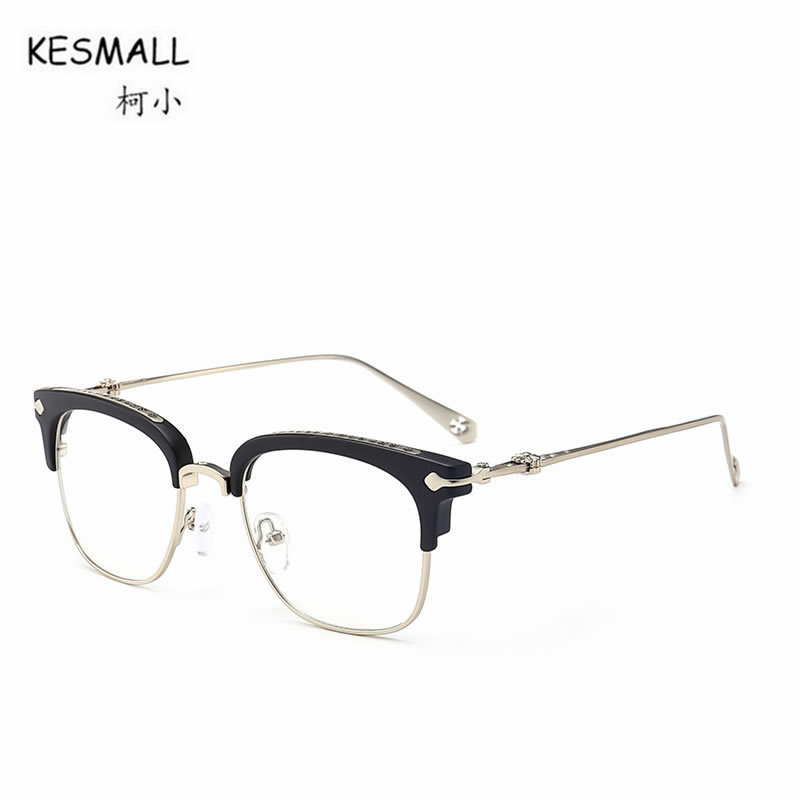 KESMALL 2018 New Retro Glasses Frame Men Women Fashion Reading Eyeglasses Frames Computer Eyewear Occhiali Miopia Feminino XN161