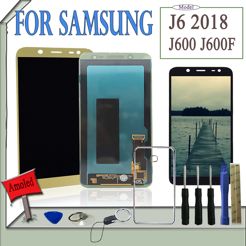 SZMUGUA 5.6 AMOLED Screen LCD For Samsung Galaxy J6 J600 J600F LCD Display Touch Screen Digitizer Assembly With ToolsSZMUGUA 5.6 AMOLED Screen LCD For Samsung Galaxy J6 J600 J600F LCD Display Touch Screen Digitizer Assembly With Tools