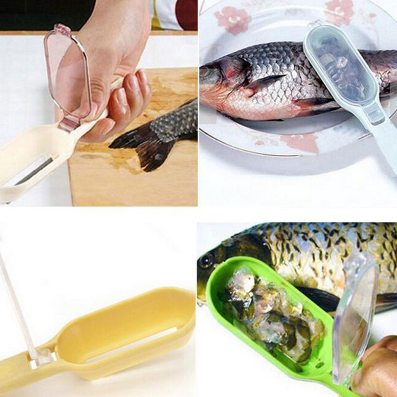 Kitchen Gadgets Fish Scraper Clean Fish Knife For Cleaning Fish Scales Planing Kitchen Tools Supplies CX521