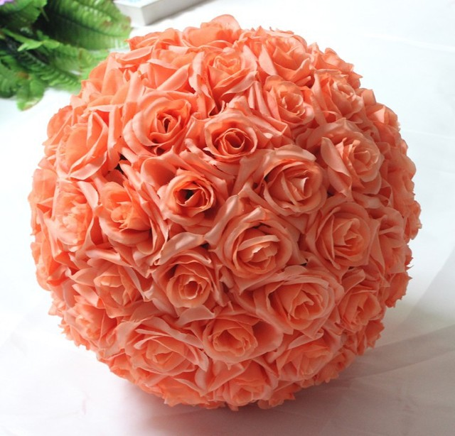 8inch 20cm fushia white silk rose kissing balls pomanders champagne 8inch 20cm fushia white silk rose kissing balls pomanders champagne artificial flower ball centerpieces for wedding mightylinksfo Choice Image