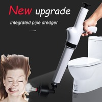YES High Pressure Air Drain Dredge Blaster Pump Plunger Sink Pipe Clog Remover Cleaner Kit Kitchen Toilets Bathroom Sewer Dredge