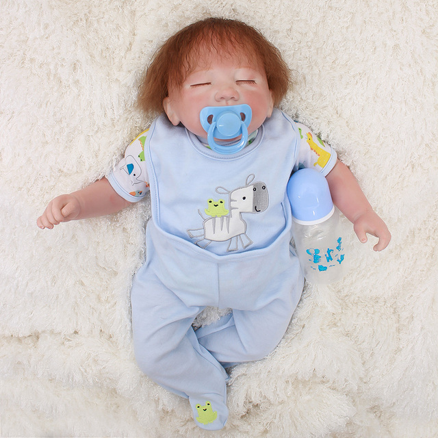 "OtardDolls 20""Bebe Reborn Dolls Soft Silicone Baby Doll In Cute Soft Plush Clothes Alive Baby Dolls As Girls Playmates"