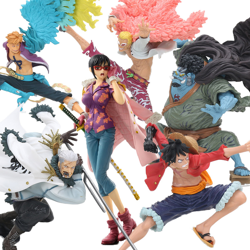In Quality One Piece Pvc Action Figures Collection Model Monkey D Luffy Smoker Tashigi Doflamingo Marco Jinbe Anime Toys Decoration Wx293 Excellent
