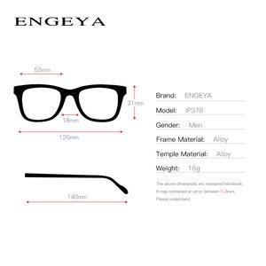 Image 3 - المعادن النظارات الرجال البصرية شفافة مربع موضة العلامة التجارية مصمم إطارات نظارات وصفة طبية مرونة المفصلي # IP378