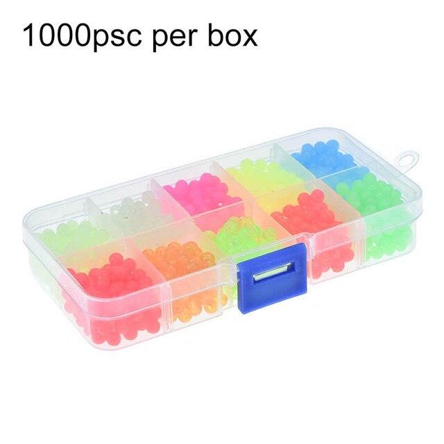 1000 Pcs Premium Green Large Soft Rubber Oval Luminous Fishing Beads Lumo Glow Beans Sabiki Snapper Rig