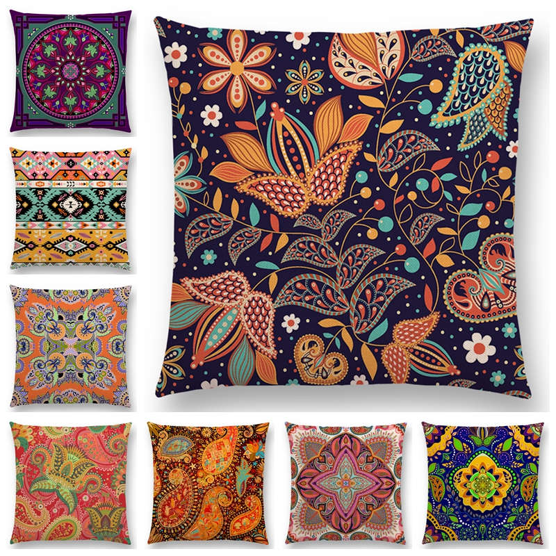 Genial Hot Sale Boho Paisley Oriental Floral Pattern Navajo Geometric Prints  Fantasy Petal Flowers Cushion Home Decor Sofa Throw Pillow In Cushion From  Home ...
