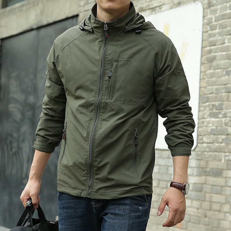 Image 5 - 6XL Men's Waterproof Military Jacket Autumn Men Casual Windbreaker Jackets Mens Breathable Hooded Outdoor Coats Clothes ,GA363-in Jackets from Men's Clothing