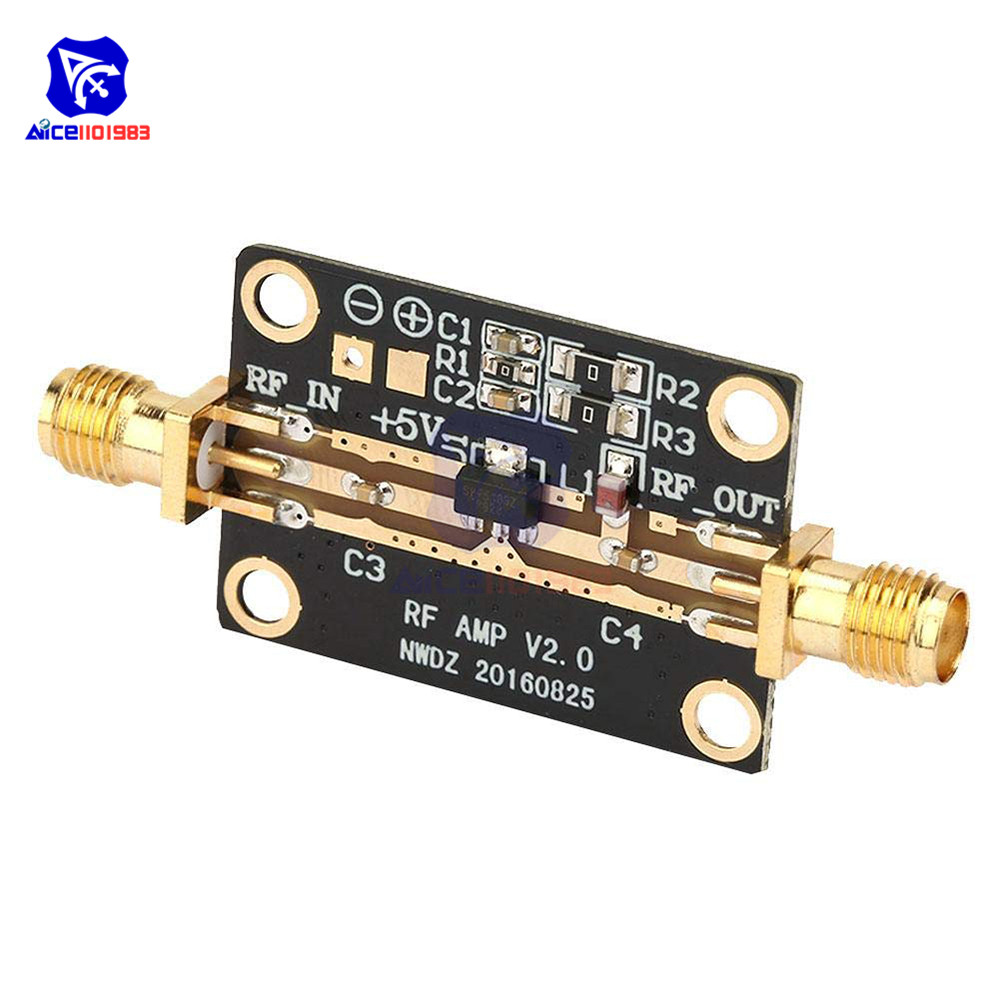 RF Amplifier Module 23DB P1DB Wide Band Low Noise Amplifier LNA 0.05-4GHz NF=0.6dB RF FM HF VHF/UHF For Ham Radio