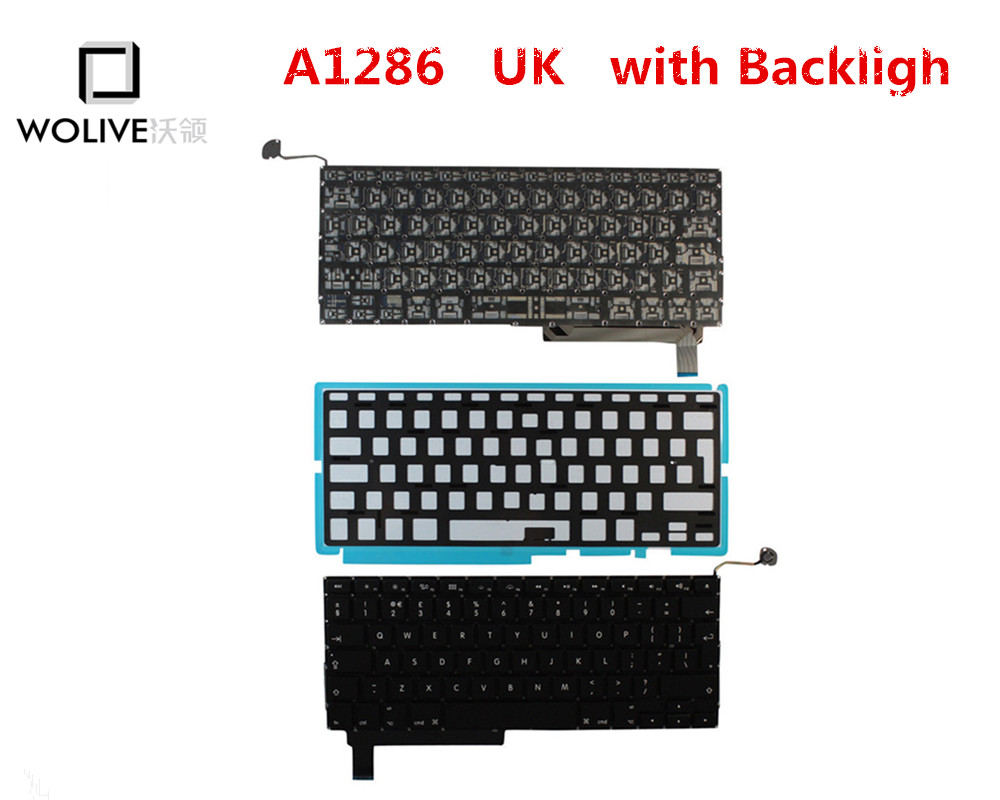 Genuine New A1286 UK Keyboard For font b Macbook b font Pro 15 2009 2012 Year