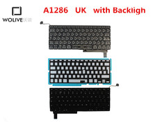 Genuine New A1286 UK Keyboard For Macbook Pro 15″ 2009-2012 Year With Backlight Language version UK Replacement