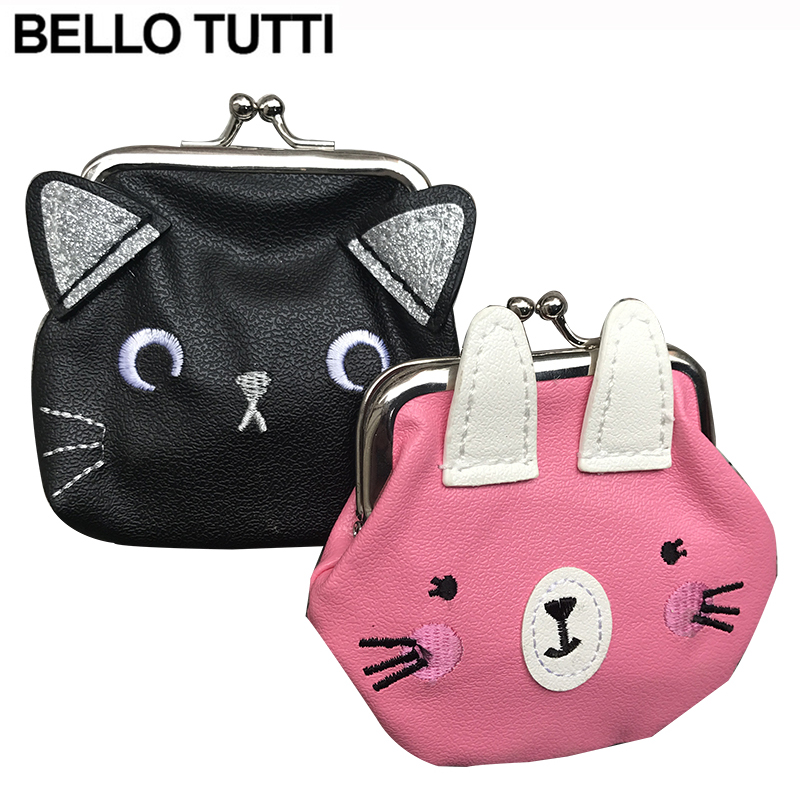 купить BELLO TUTTI PU Leather Mini Coin Purse Change Wallet For Little Girls Hasp Small Wallet Female Cute Animal Pattern Coin Bag по цене 56.98 рублей