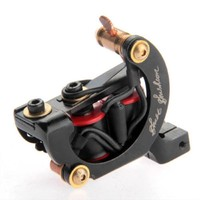 Special Tattoo Machine Gun 10 Wrap Coils Liner Shader Moon Shape Professional Durable Low Noise Cast