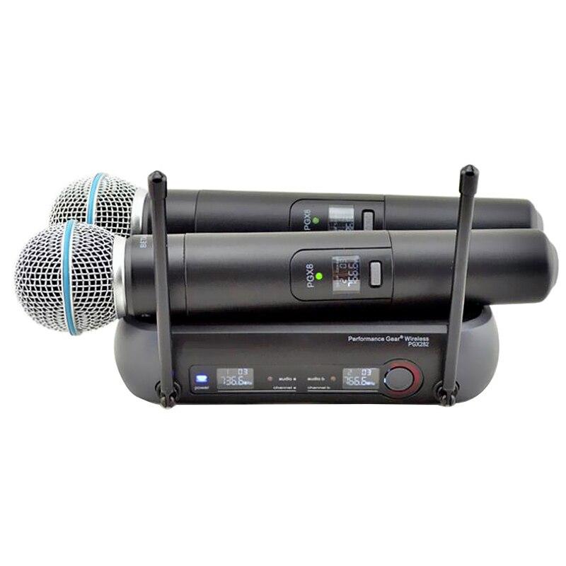 Finlemho Microphone professionnel sans fil PGX282 enregistrement Vocal dynamique à domicile Studio pour karaoké mélangeur Audio professionnel