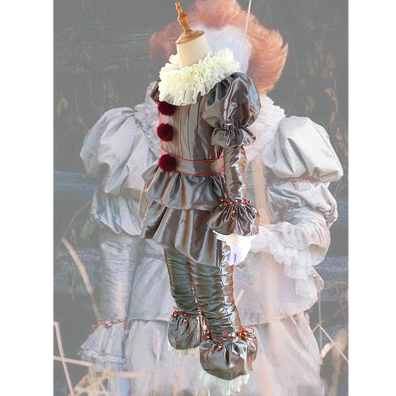 Image 5 - Stephen King's It Pennywise Cosplay Costumes Scary Joker Suit Fancy Separated mask Halloween Party Adult Men Women Clown Masks-in Anime Costumes from Novelty & Special Use