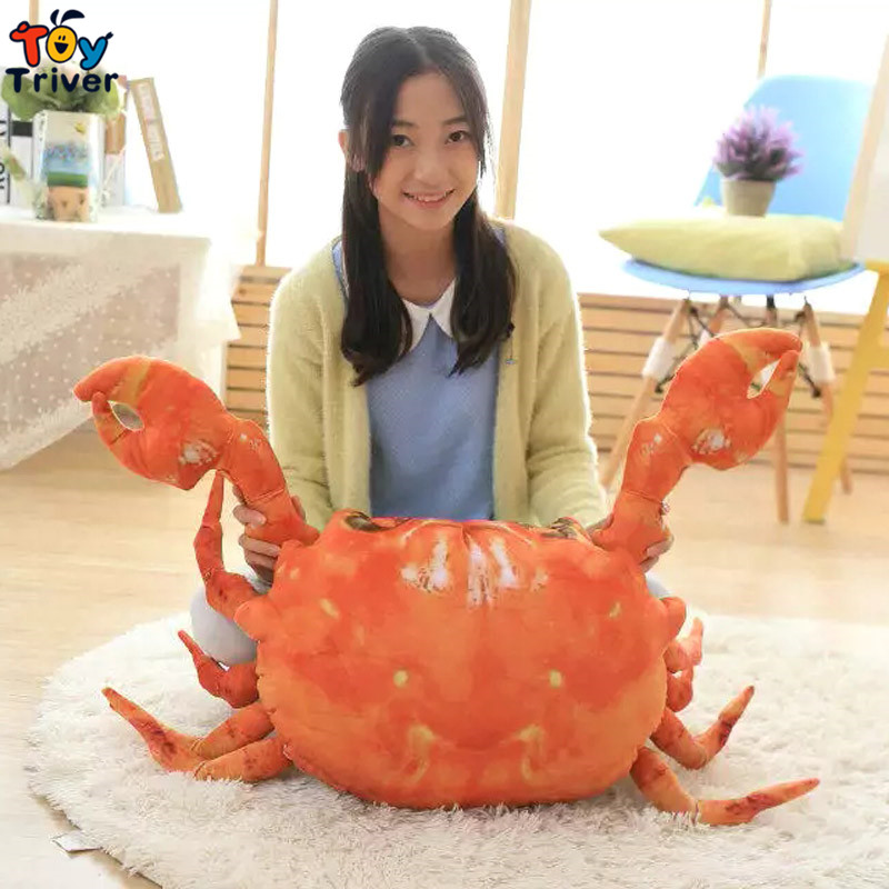 Cute Simulation Plush Big Crab Stuffed Ocean Doll Toys Baby Girl Boy kids Birthday Christmas Gift Shop Restaurant Deco Triver new cute plush toy cow doll simulation game more cattle stuffed animal christmas birthday gift for girls