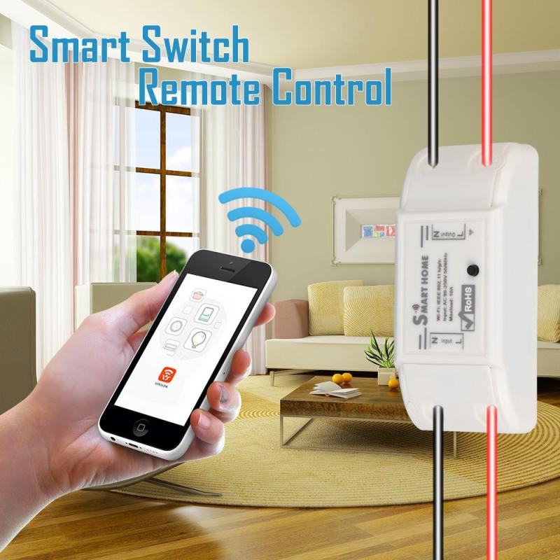2017 1CH Sonoff Wifi Switch Relay Module AC 90V-250V 220V Wireless Light Timer Switch For Smart Home Automation New itead sonoff wireless wifi smart switch app control home automation module timer smart switch new