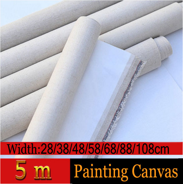 5m Linen Blend Primed Blank Canvas For artist Painting Coarse-grained Oil Painting Canvas Linen Oil Painting Canvas ...