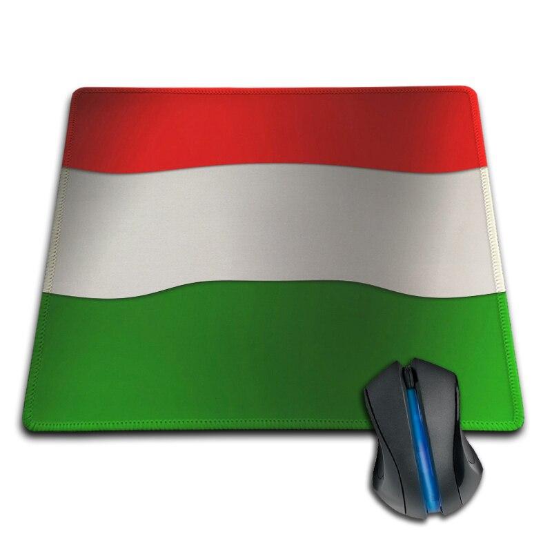 Komik Vintage Macaristan Bayrağı Profesyonel Baskı Oyun Mouse Pad Optik Lazer PC Fareler için Güzel Hediye