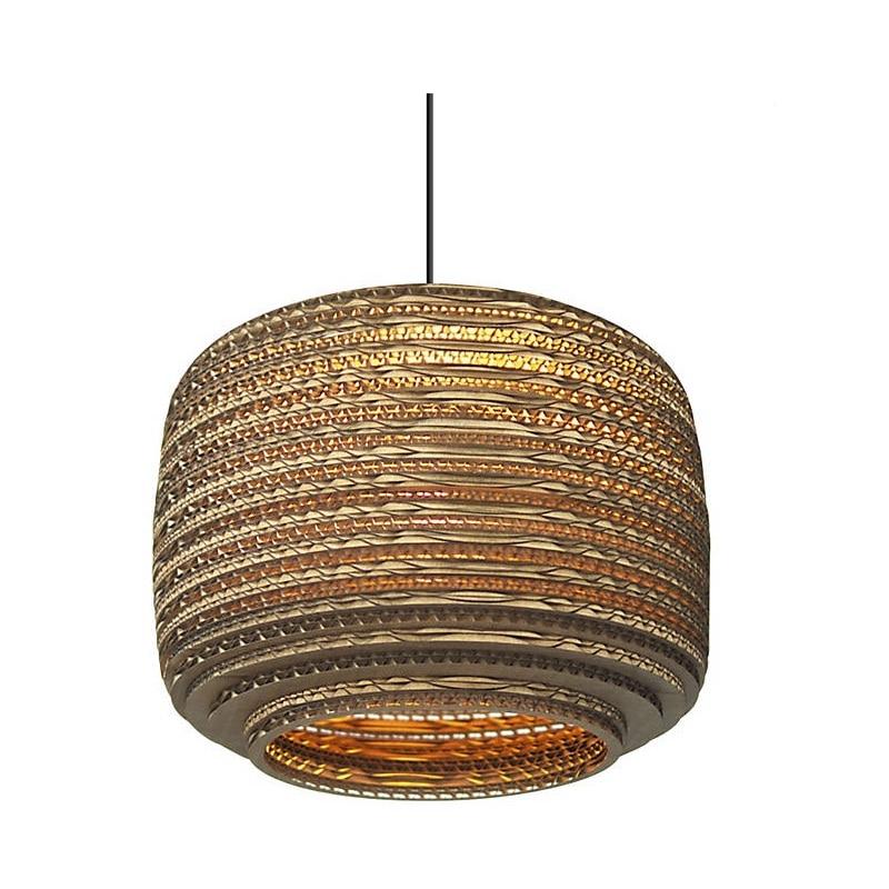 Brown Basket Lampshade Pendant Lights Paper Pendant Lamp