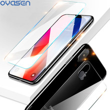 цена на Front Back Screen Protector For iPhone XR XS Max X 0.26MM Transparent 9H Explosion-proof Tempered Glass Film For iPhone XS Max